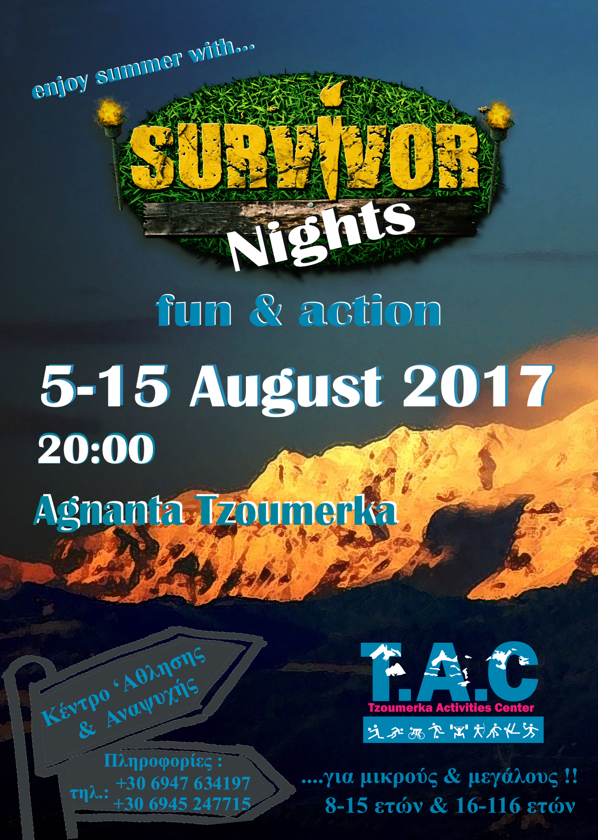 POSTER SURVIVOR NIGHTS